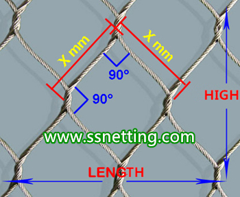 flexible netting for animal cage, as known as animal enclosure netting, animal fencing, zoo animal fence mesh