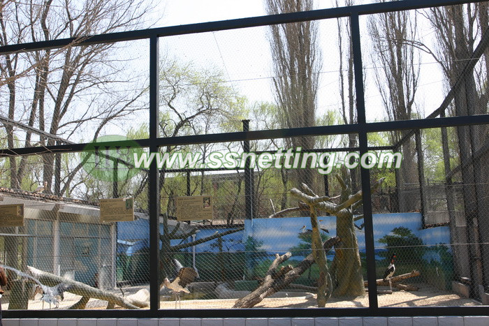 Crane netting, zoo crane bird fencing, wire rope crane netting, crane mesh