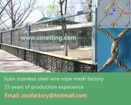 Animal cage fence mesh manufacturers, sales of stainless steel zoo protection netting, not rusty steel wire rope braid mesh
