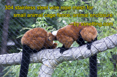 AISI 304/316 Zoo Enclosure Fence Netting Mesh