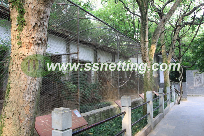 "3/64"" x 1"" x1"" of stainless steel wire rope bird netting, bird aviary netting, bird cage roof screen"