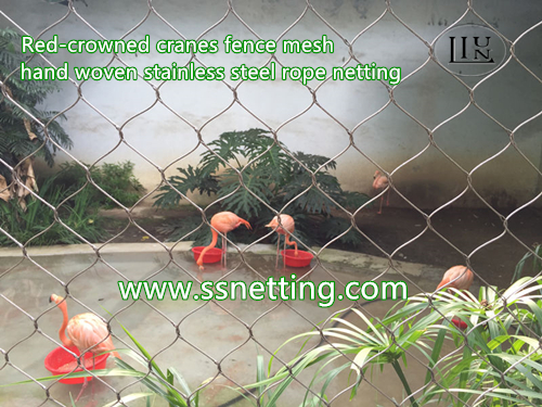 Stainless steel bird cage protection mesh, bird netting fence, wire rope mesh for bird cage