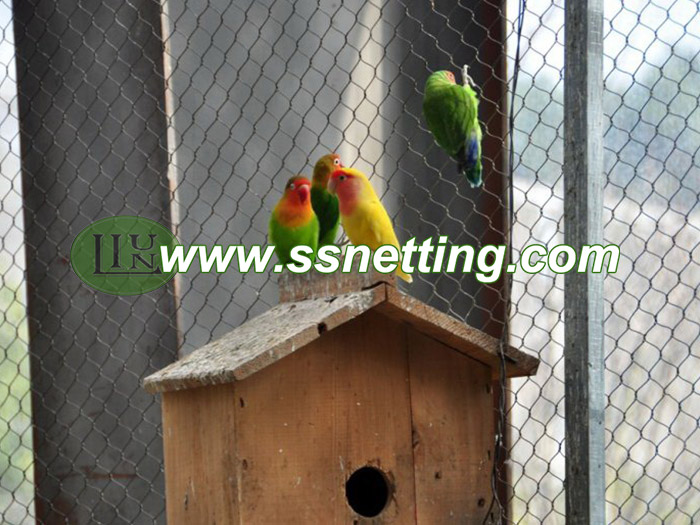 Stainless steel wire cable netting mesh for small parrots netting