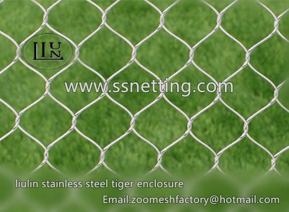 7*19 zoo animal wire cable rope mesh suppliers, wire rope protective fence for zoo animal cage enclosure manufacturer