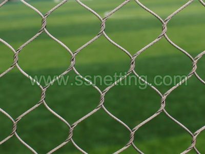 Wire rope braid netting, stainless steel flexible net, metal wire cable protective mesh