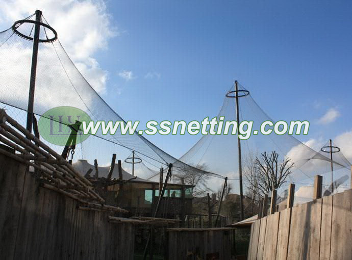 Advantages of China liulin wire rope zoo mesh used for bird park netting, aviary netting products