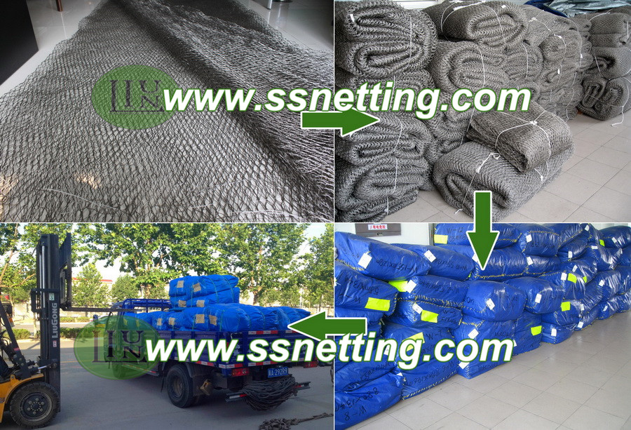 Packing & Shipping wire rope netting zoo mesh