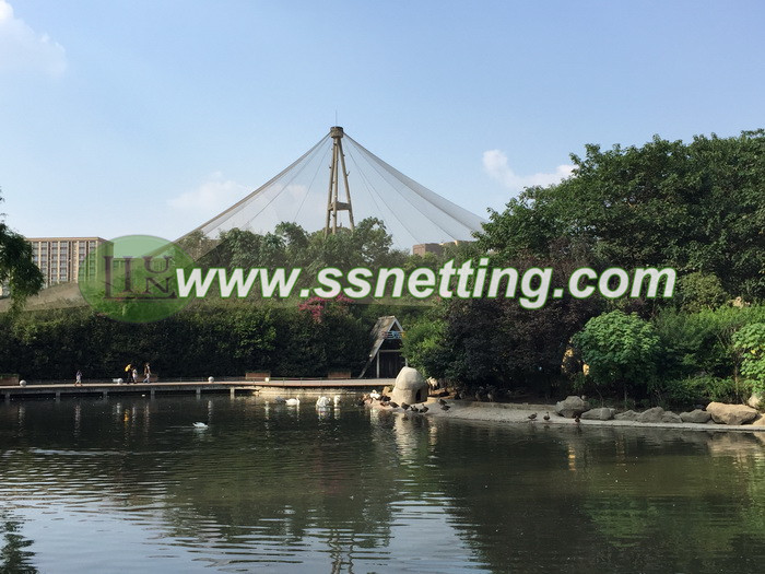 avairy netting project in Chengdu zoo in China