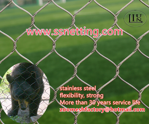 Black oxide stainless steel bear fence mesh
