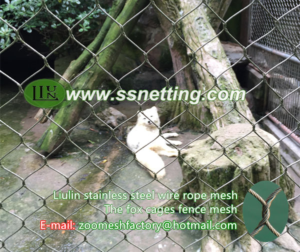 The fox cages fence mesh