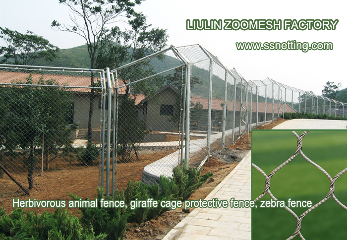 Stainless steel 304, or 316 GB Zoo Zebra barrier netting