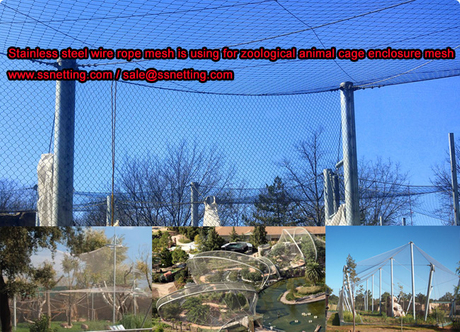 Stainless steel wire rope mesh is using for zoological animal cage enclosure mesh.jpg