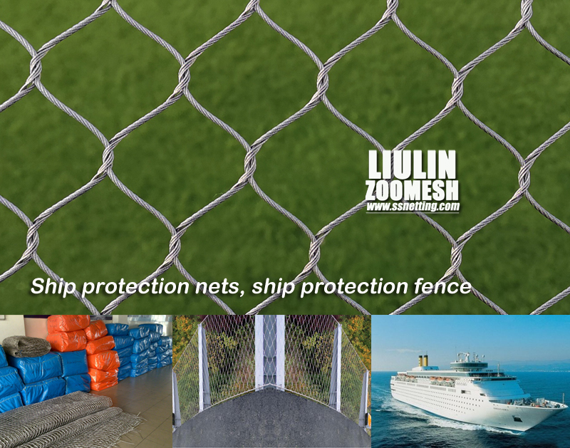 Ship protection nets, ship protection fence