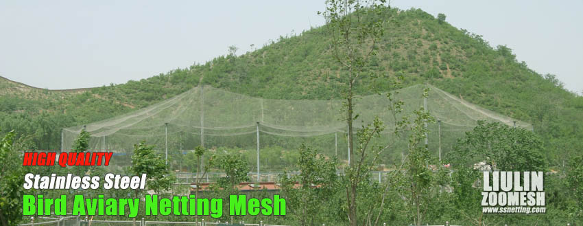bird protective nets we produce is made of stainless steel materials. It is very strong, durable, and it can block the entry of intruders