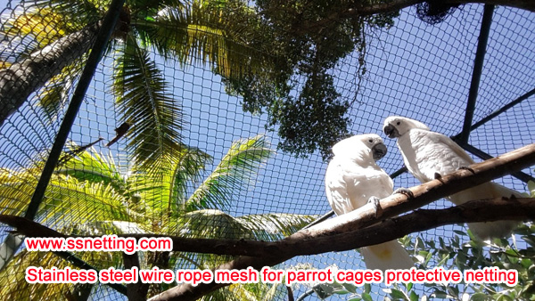 Parrots cage protective netting selection