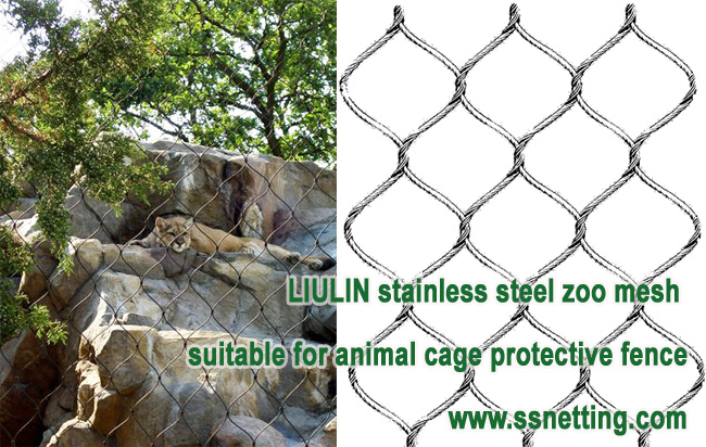 LIULIN stainless steel zoo mesh suitable for animal cage protective fence