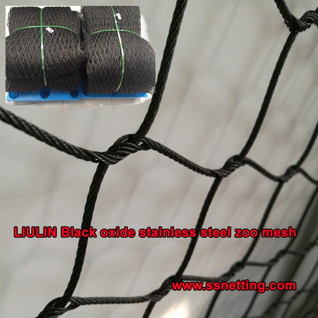 LIULIN Black oxide stainless steel zoo mesh