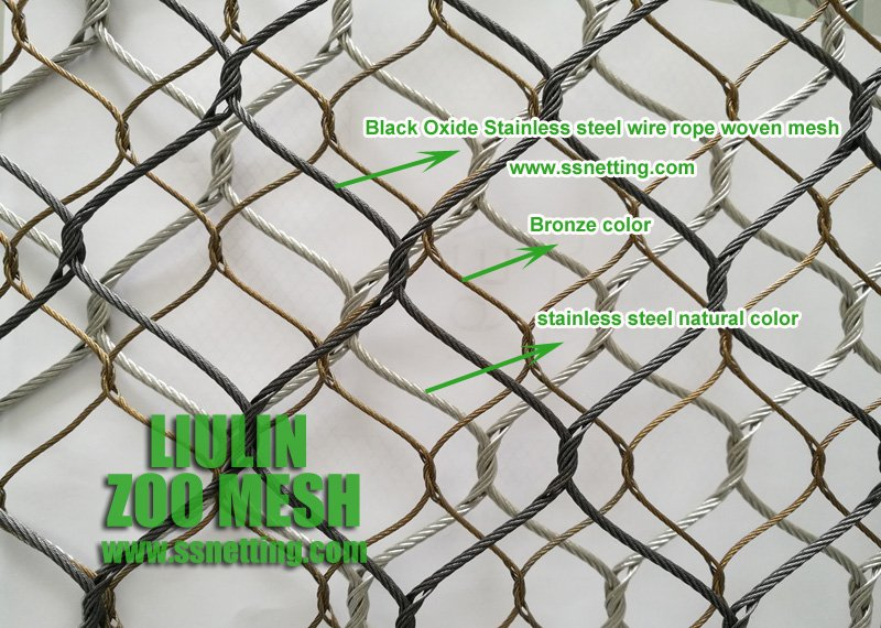 Black Oxide Stainless steel wire rope woven mesh