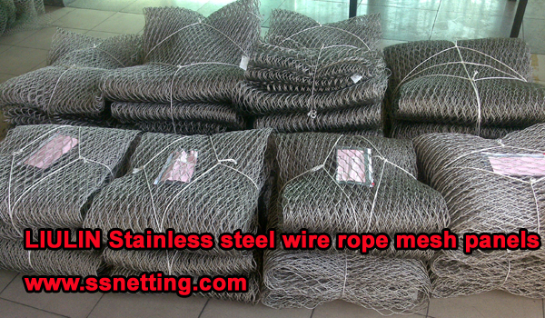 Stainless steel wire rope mesh new order