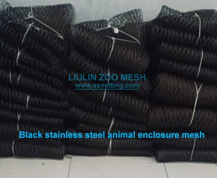 Black stainless steel animal enclosure mesh.jpg