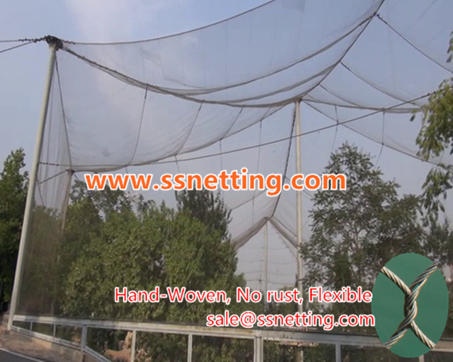 bird aviary netting construction dedicated stainless steel rope net