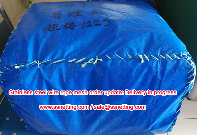 Stainless steel cable woven mesh order delivered