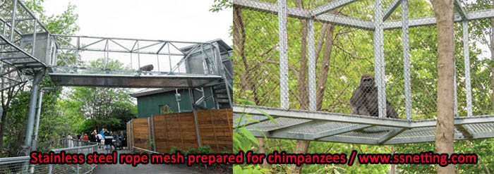 stainless steel rope mesh prepared for chimpanzees