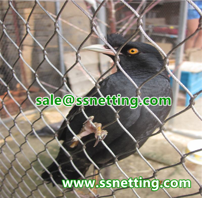 stainless steel wire mesh for bird aviary cage fence.jpg