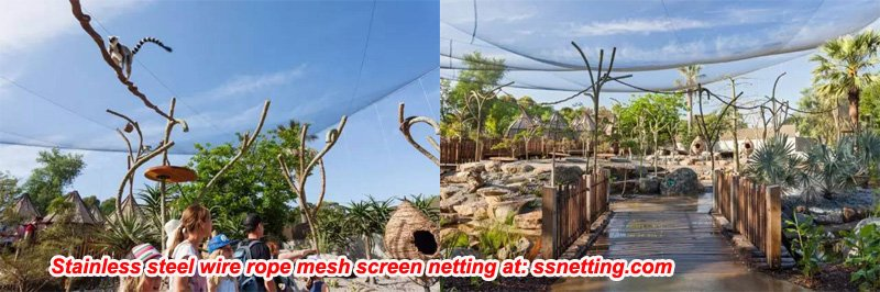 Stainless steel wire rope mesh material screen for zoo