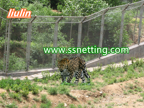 zoo leopard enclosure netting