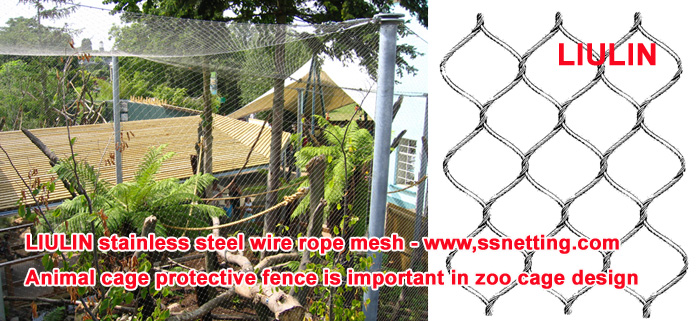 Animal cage protective fence is important in zoo cage design