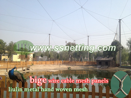 wire cable netting, metal bird cage enclosure fence netting, bird cage wire cable mesh