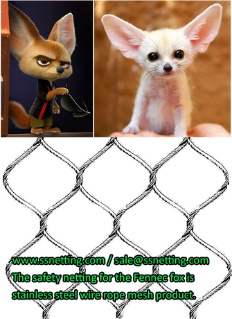 The safety netting for the Fennec fox in my local zoo is a stainless steel wire rope mesh product.jpg