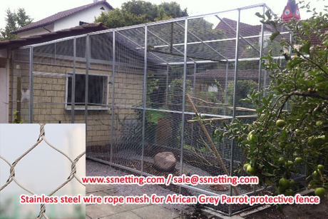 Stainless steel wire rope mesh for African Grey Parrot protective fence.jpg