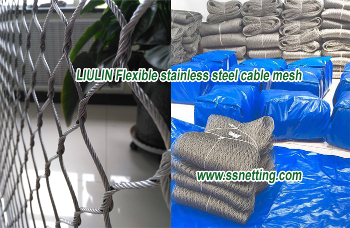 LIULIN Flexible stainless steel cable mesh