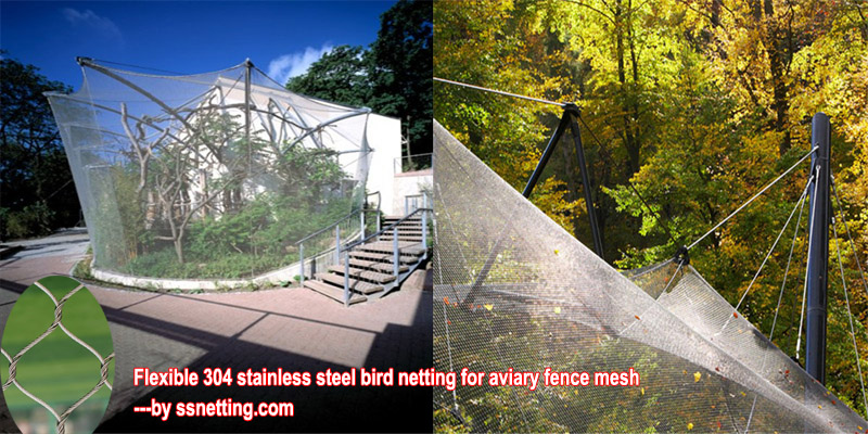 Flexible 304 stainless steel bird netting for aviary fence mesh.jpg