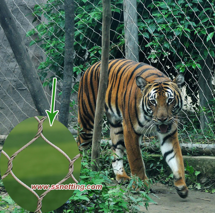 Stainless steel cable mesh for Tiger Enclosure Mesh