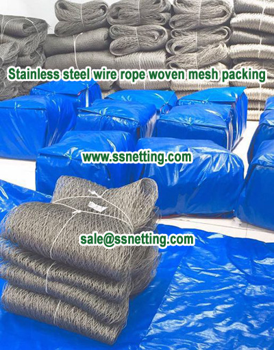 Stainless steel wire rope woven mesh packing