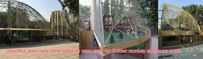 Stainless steel rope mesh projects case used for Golden monkey enclosure mesh.jpg
