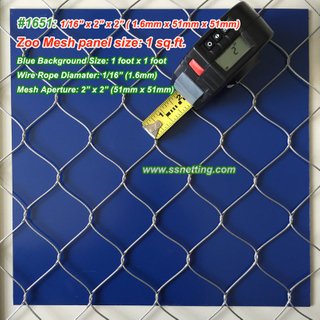 "Stainless Steel Mesh 1/16"", 2"" X 2"", ( 1.6mm, 51mm X 51mm)"