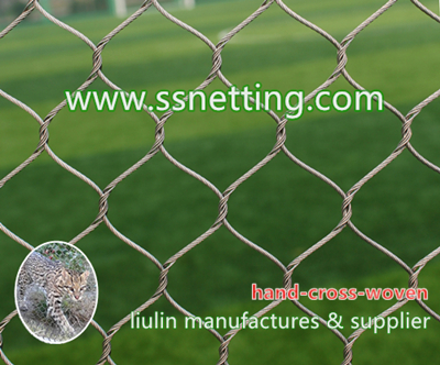 AISI 304 and 316 stainless steel wire rope mesh