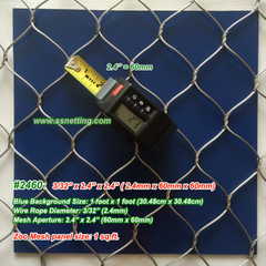 "Stainless Wire Mesh Panels 3/32"", 2.4"" X 2.4"", ( 2.4mm, 60mm X 60mm)"