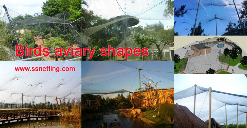 Bird Aviary netting - stainless steel wire rope mesh selection
