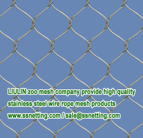 LIULIN zoo mesh company provide high quality stainless steel wire rope mesh products