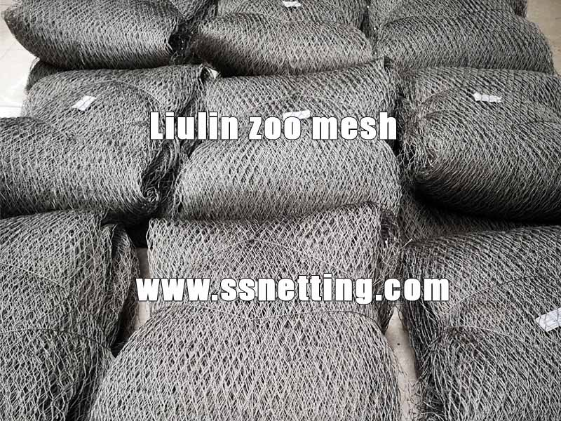 Stainless steel cable mesh manufacturer deliver the mesh order to the USA