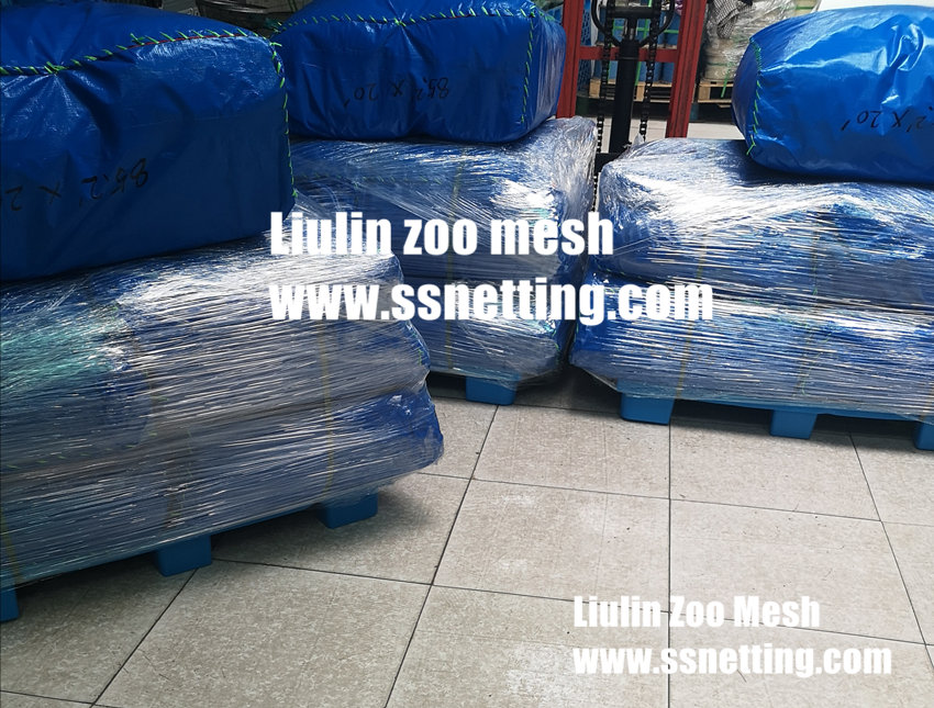Delivery of stainless steel rope knotted mesh- Liulin wire mesh